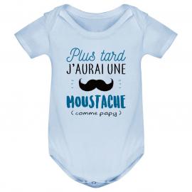 Body bébé Une moustache comme papy