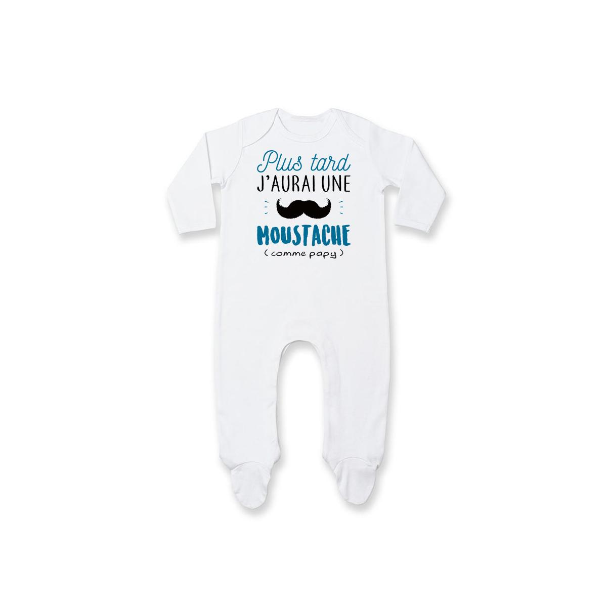 Pyjama bébé Une moustache comme papy