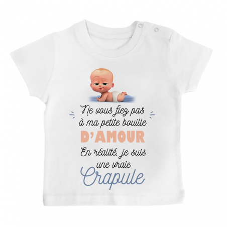T-shirt bébé Une vraie crapule