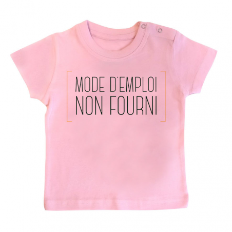 T-shirt bébé Mode d'emploi non fourni