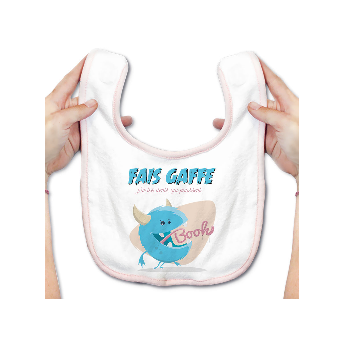 Bavoir bébé J'ai les dents qui poussent