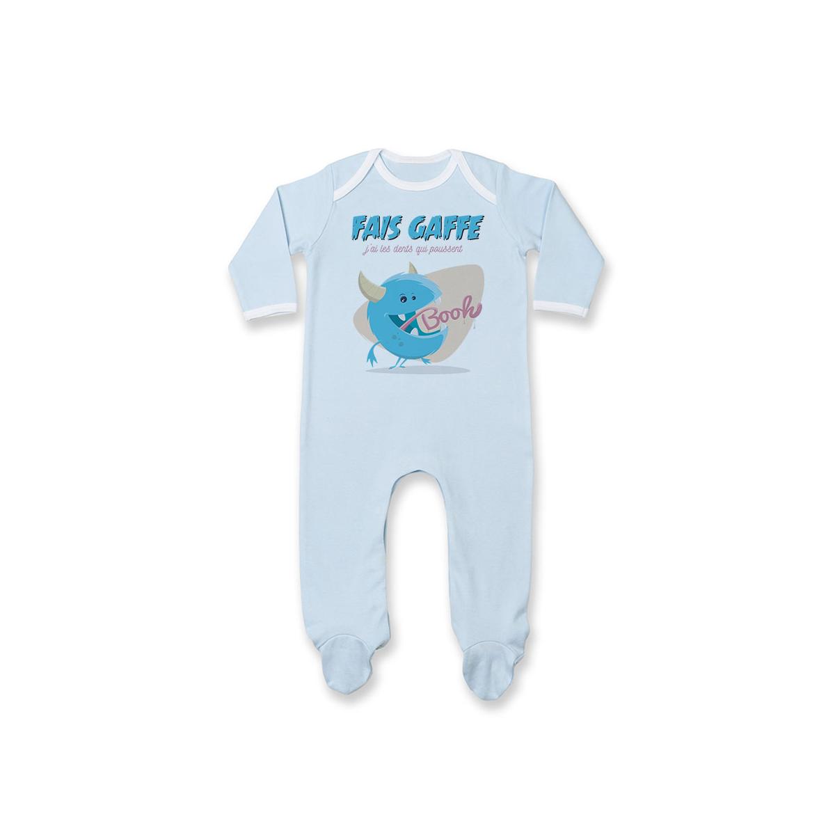 Pyjama bébé J'ai les dents qui poussent