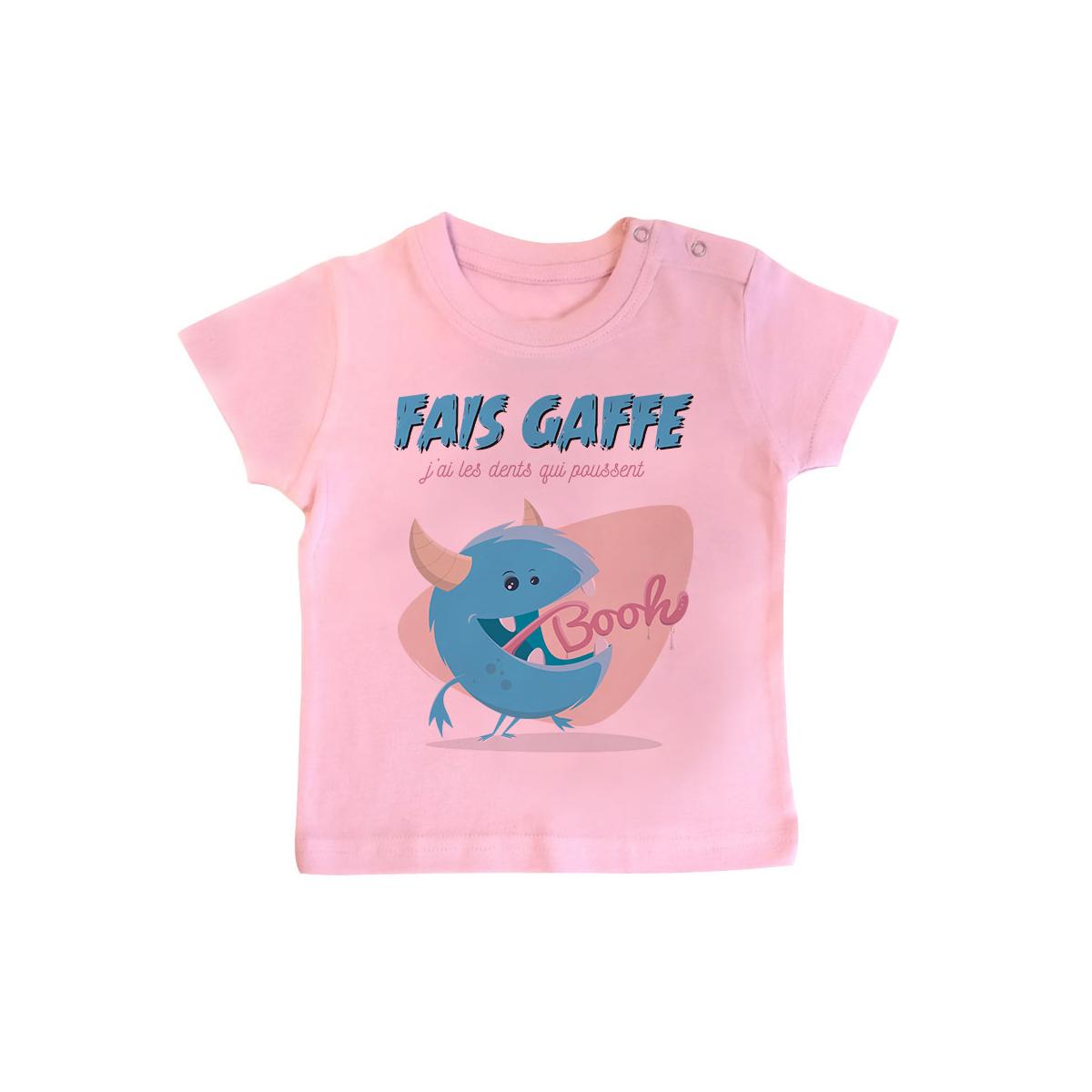 T-shirt bébé J'ai les dents qui poussent