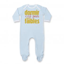 Pyjama bébé Dormir c'est pour les faibles