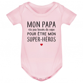 Body bébé Mon papa / super-héros