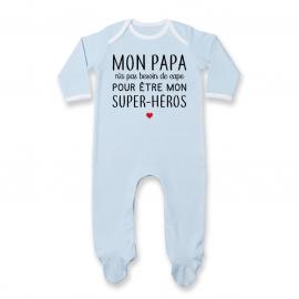 Pyjama bébé Mon papa / super-héros