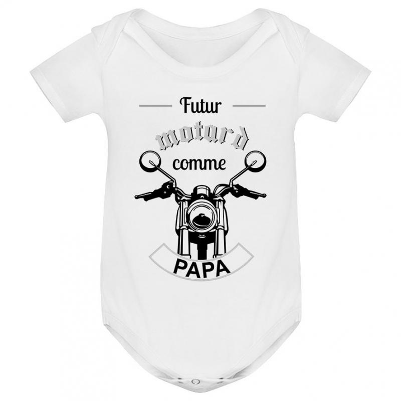 Body bébé Futur motard comme papa