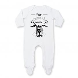 Pyjama bébé Futur motard comme papa