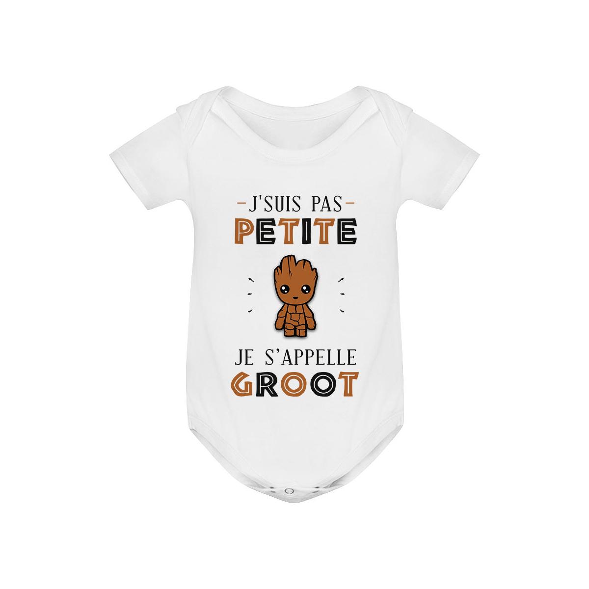 Body bébé J'suis pas petite Je s'appelle GROOT