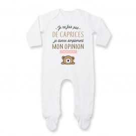 Pyjama bébé Je donne mon...