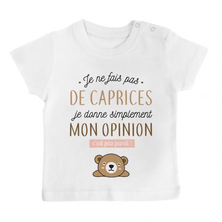 T-shirt bébé Je donne mon opinion