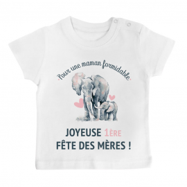 T-shirt bébé Joyeuse fête des mères