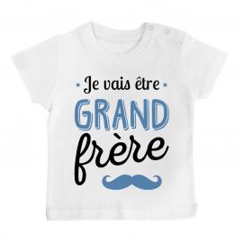 T-shirt bébé Je vais être grand frère