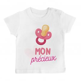 T-shirt bébé Mon précieux ( fille )