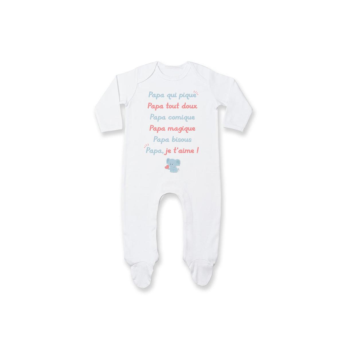 Pyjama bébé Papa je t'aime
