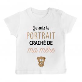 T-shirt bébé Portrait craché de ma mère