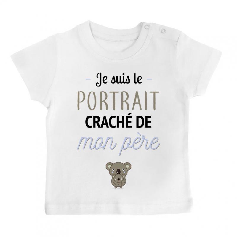 T-shirt bébé Portrait craché de mon père