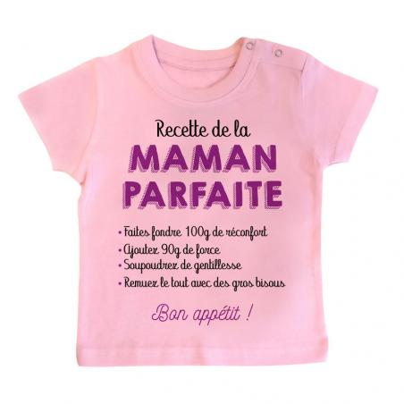 T-shirt bébé Recette de la maman parfaite