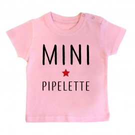 T-Shirt bébé Mini pipelette