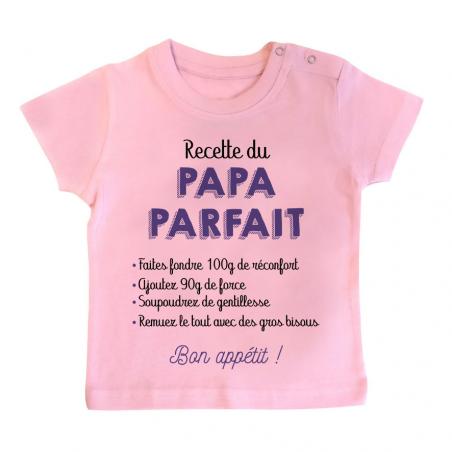 T-shirt bébé Recette du papa parfait