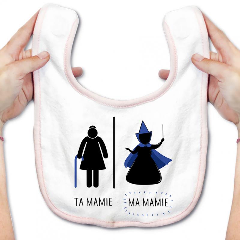 Bavoir bébé Ta mamie - ma mamie