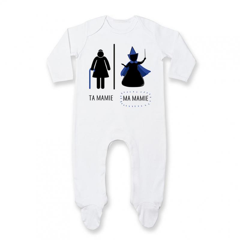 Pyjama bébé Ta mamie - ma mamie