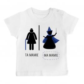 T-shirt bébé Ta mamie - ma mamie