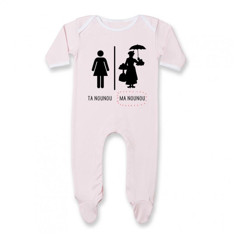 Pyjama bébé Ta nounou - ma nounou