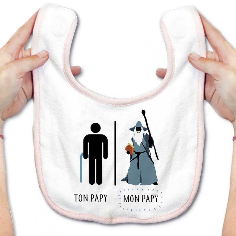 Bavoir bébé Ton papy - Mon papy