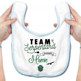 Bavoir bébé Team Serpentard...