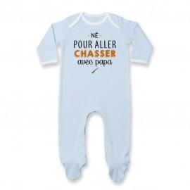 Pyjama bébé Né pour aller chasser avec papa