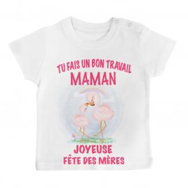 T-shirt bébé Bon travail...