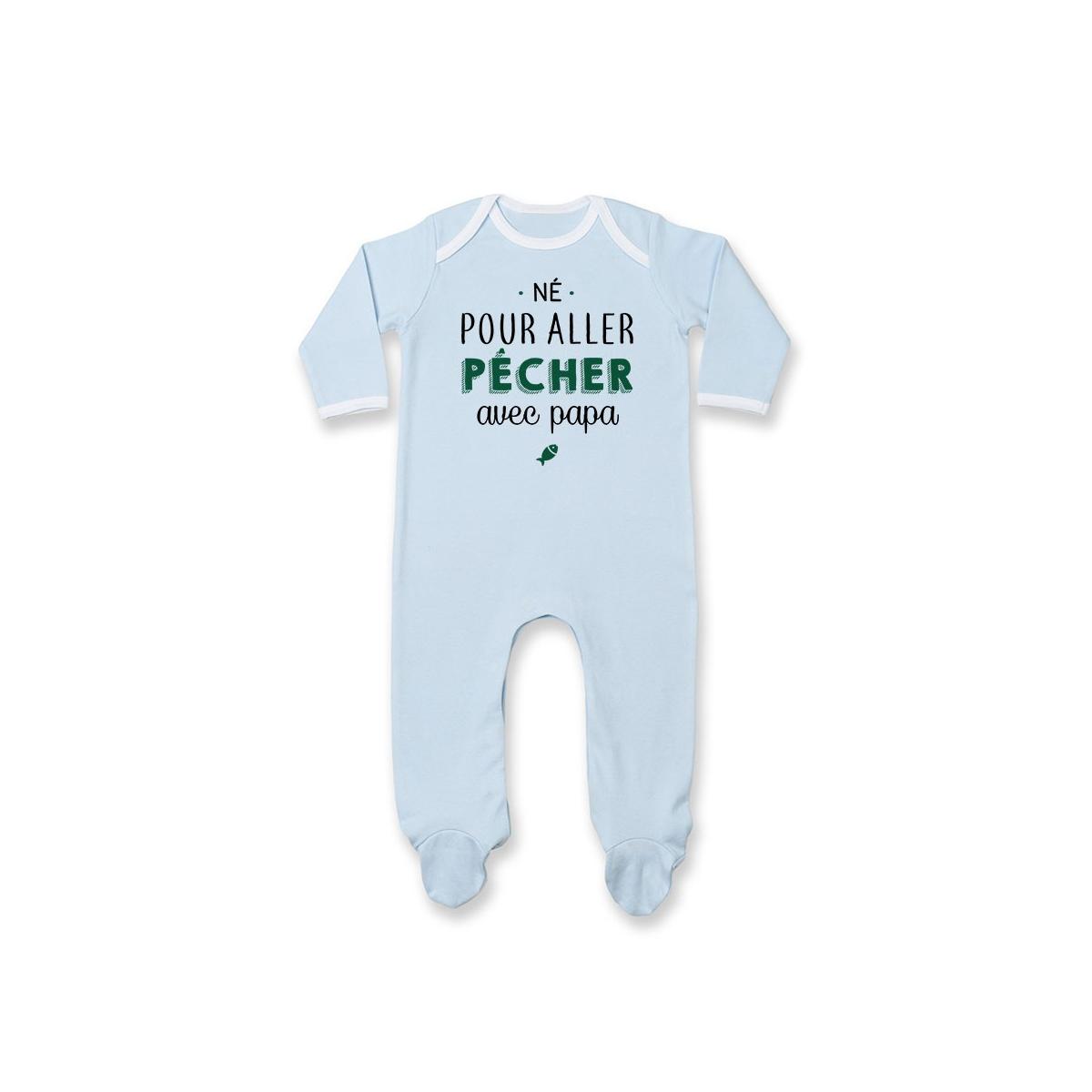 Pyjama bébé Né pour aller pêcher avec papa