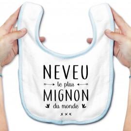 Bavoir bébé Neveu le plus mignon du monde
