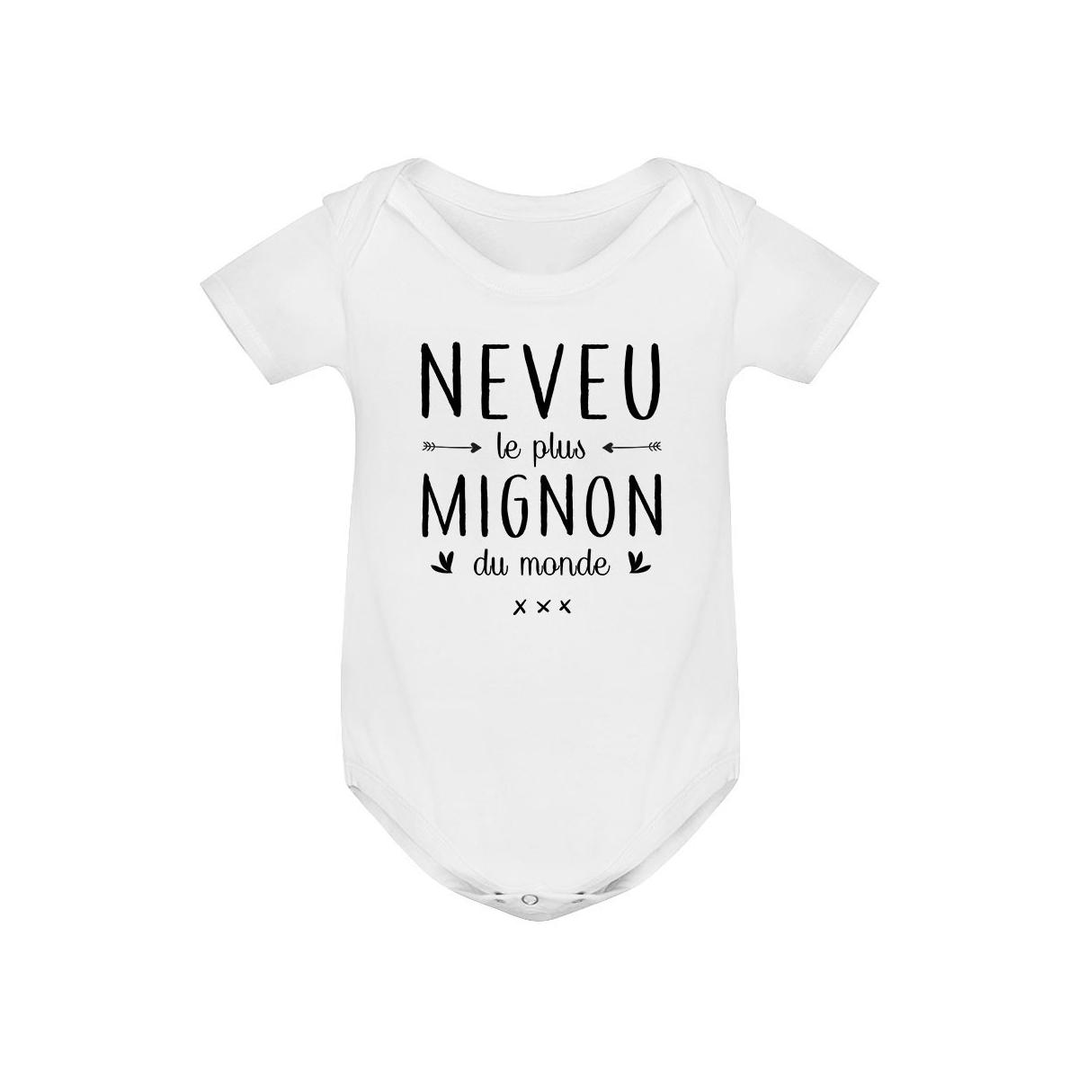 Body bébé Neveu le plus mignon du monde