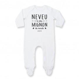 Pyjama bébé Neveu le plus mignon du monde
