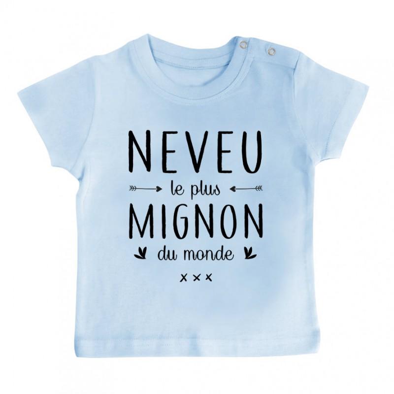 T-Shirt bébé Neveu le plus mignon du monde