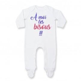 Pyjama bébé A moi les bisous !!!