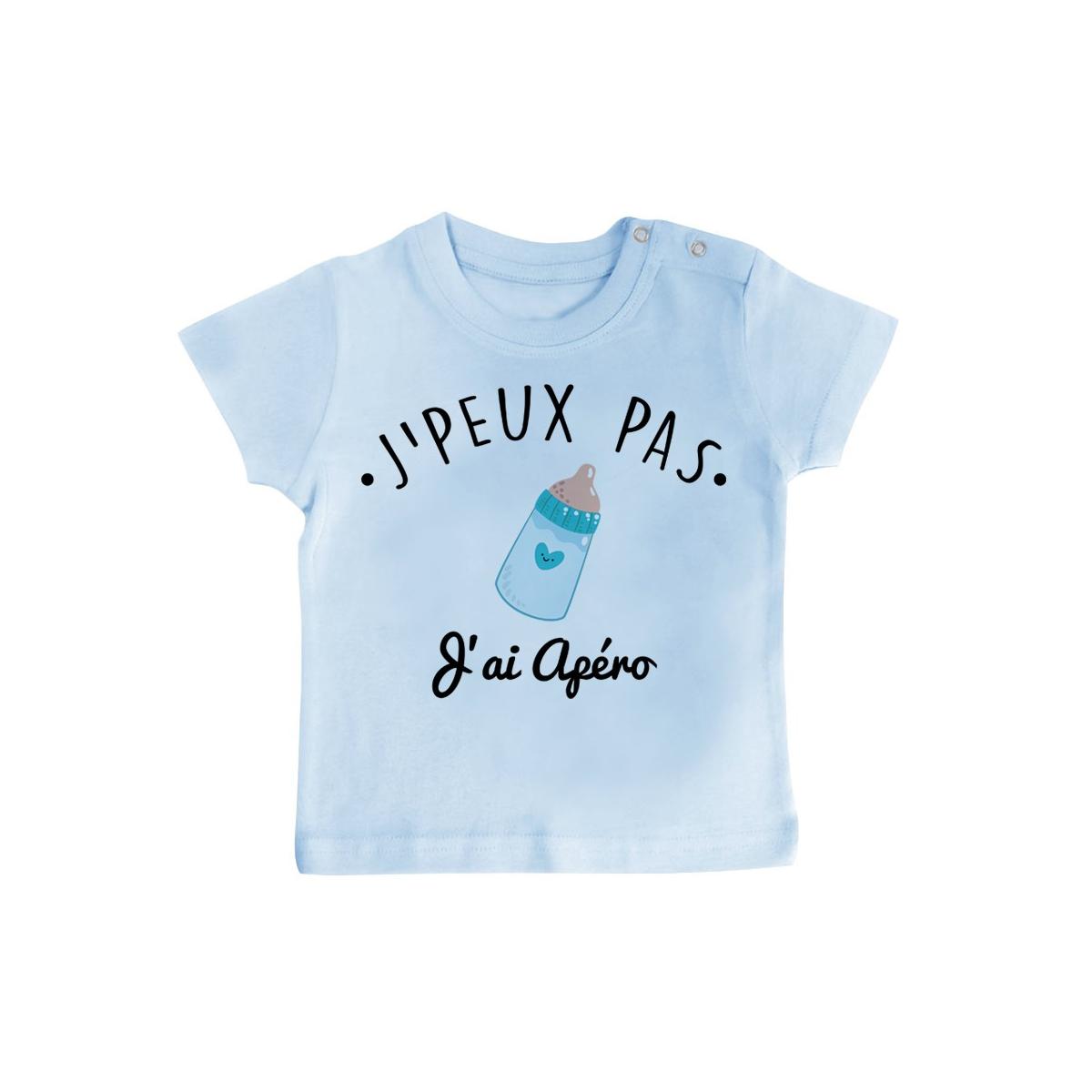 T-Shirt bébé J'peux pas j'ai Apéro