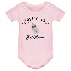 Body bébé J'peux pas j'ai Biberon