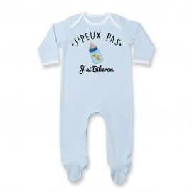 Pyjama bébé J'peux pas j'ai Biberon