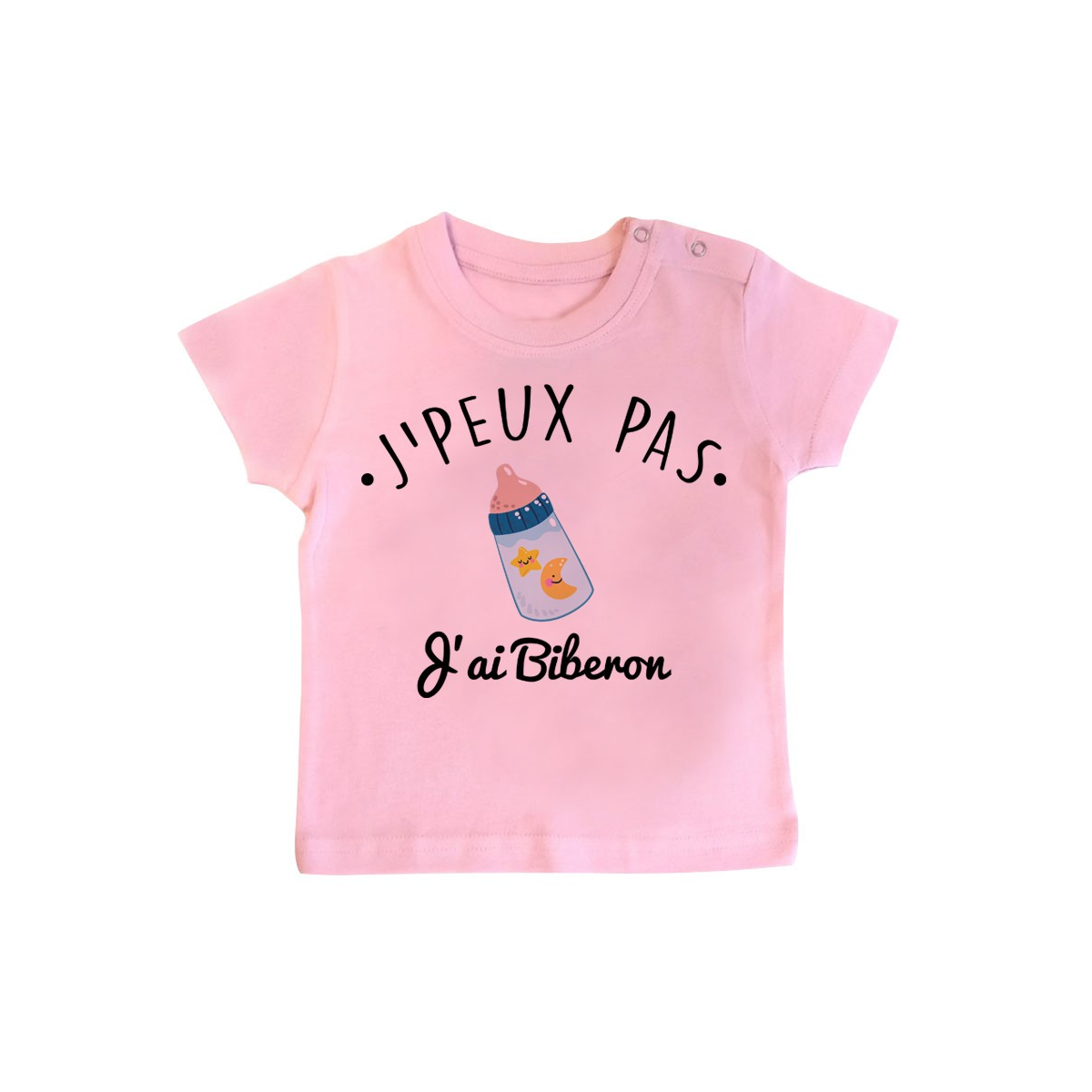 T-Shirt bébé J'peux pas j'ai Biberon