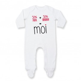 Pyjama bébé 50/50 ( version fille )