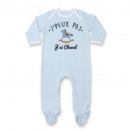 Pyjama bébé J'peux pas j'ai Cheval