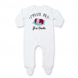 Pyjama bébé J'peux pas j'ai sieste ( version fille )