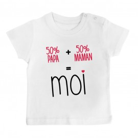 T-Shirt bébé 50/50 ( version fille )
