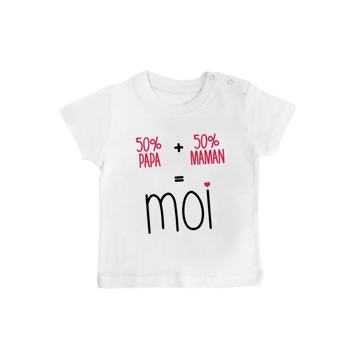T-Shirt bébé 50/50 ( version fille )