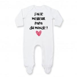 Pyjama bébé J'ai le meilleur papa du monde