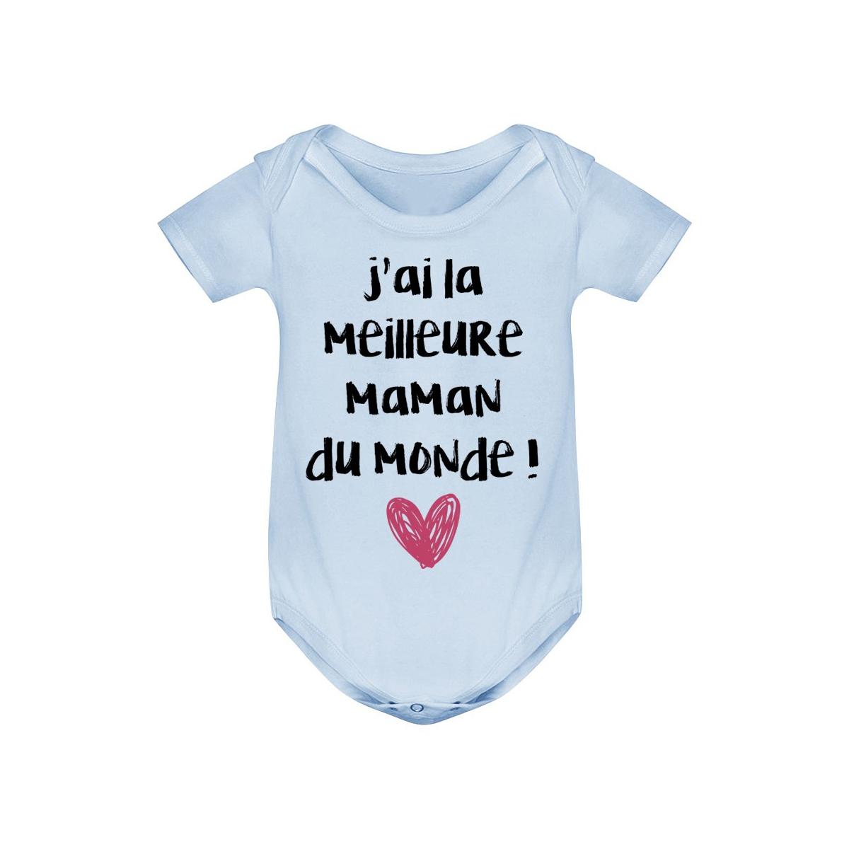 Body bébé J'ai la meilleure maman du monde