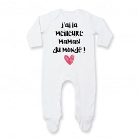 Pyjama bébé J'ai la meilleure maman du monde